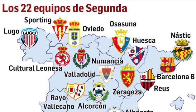 El mapa territorial de los equipos participantes