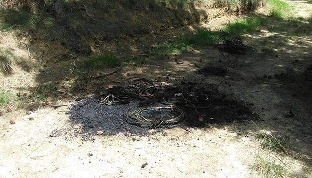 Policía Foral investiga la quema de cable en San Cristóbal