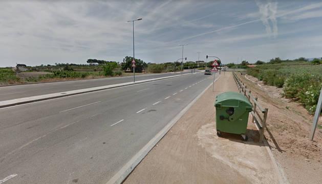 Foto de la carretera T-325, que une Salou y Cambrils.