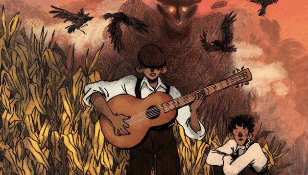Imagen de la portada de 'Avery's Blues', el nuevo cómic de Angux.