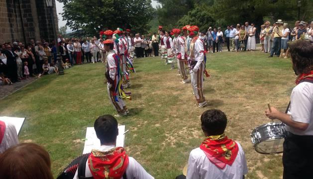 Homenaje a los Reyes de Navarra