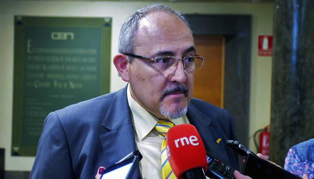 Imagen de Luis Hernández García antes de la jornada celebrada en la CEN.
