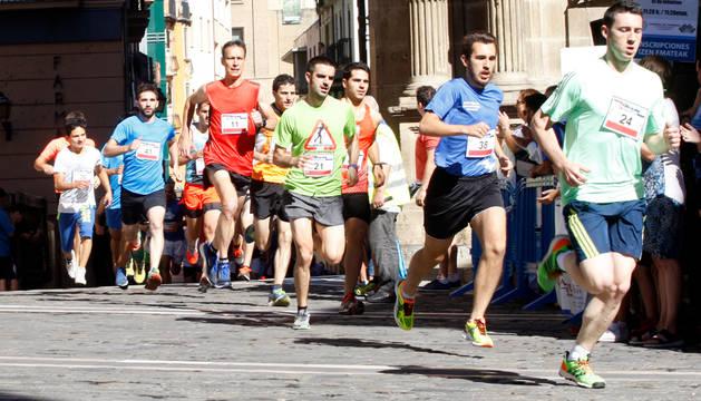 Carrera del Encierro en Pamplona, el año pasado en su XXXIII edición.