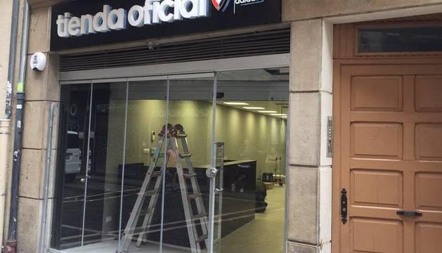 La segunda tienda oficial de Osasuna se inagurará probablemente mañana.