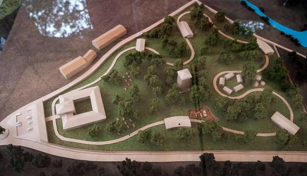 Maqueta del parque 'Enneco' en Etxarri Aranatz.