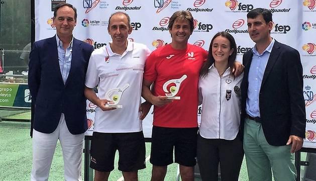 Julio López Mazuelas e Iñigo Zandio, subcampeones de España +50.