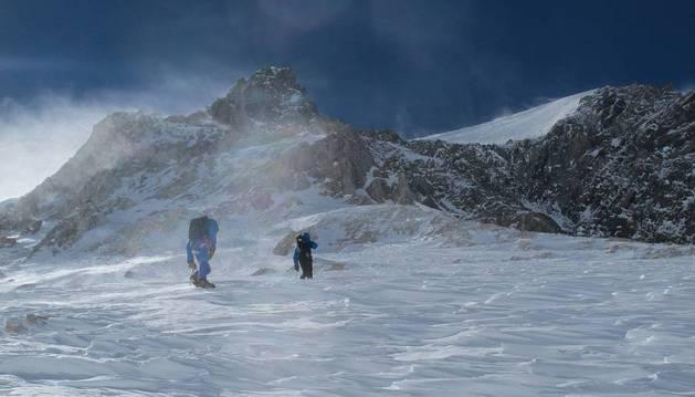 Vallejo, iñurrategi y Zabalza ascendieron por la ruta Messner hasta los 6.750m en el Gasherbrum I.