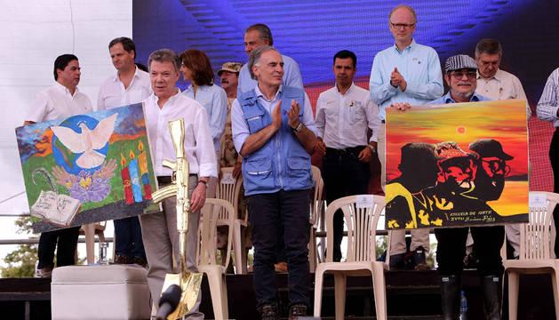 Instantánea del acto que ha tenido lugar en Colombia