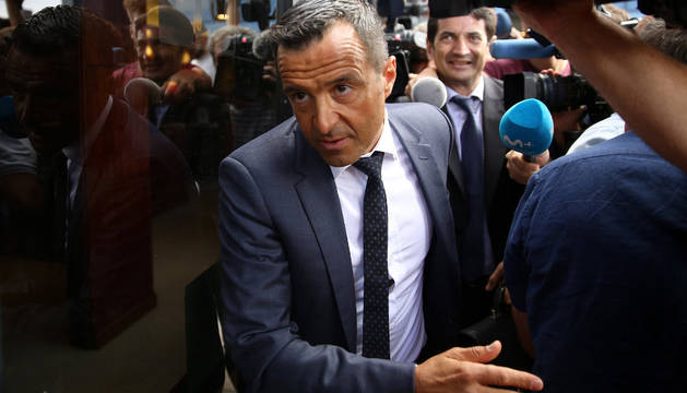 Mendes a su llegada a los juzgados de Madrid