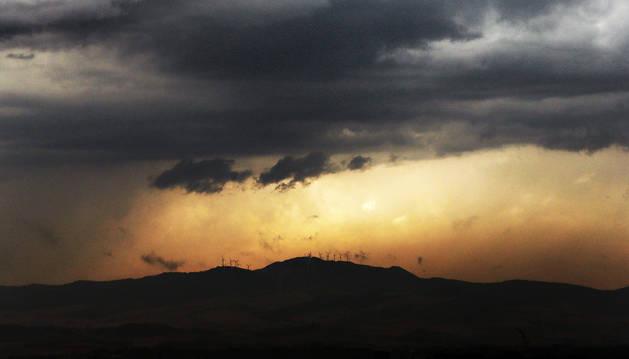 Tiempo de tormenta en Navarra