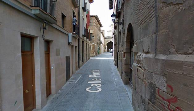 Vista de la calle Portal de Tudela.