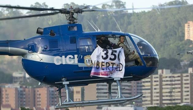 El helicóptero que usaron para el ataque.