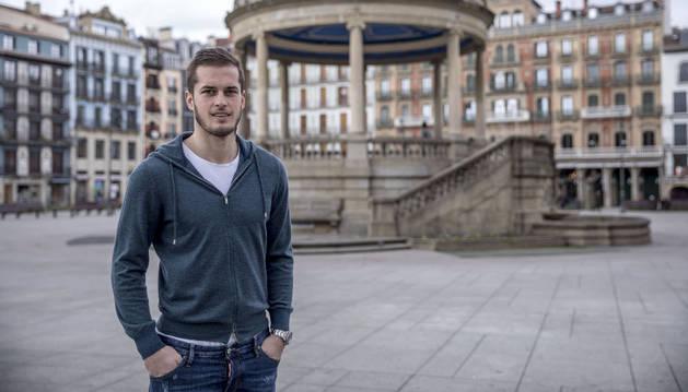 Goran Causic, en una imagen captada en la Plaza del Castillo.
