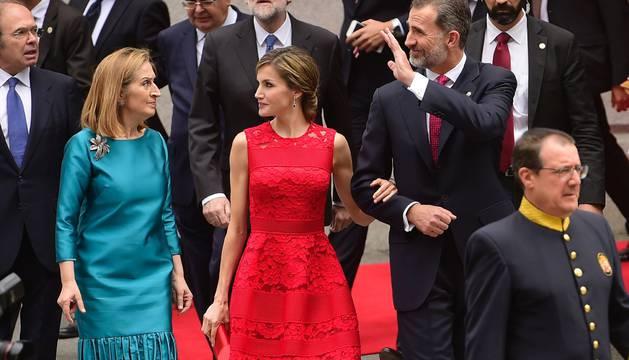 El acto con los Reyes, únicos representantes  de la Casa Real.