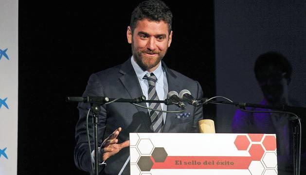 Acto de entrega de los Premios Joven Empresario Navarro 2016, organizada por AJE Navarra en el Zentral, en la que Ciro Larrañeta, CEO de Tetrace, consiguió el Premio al Joven Empresario.