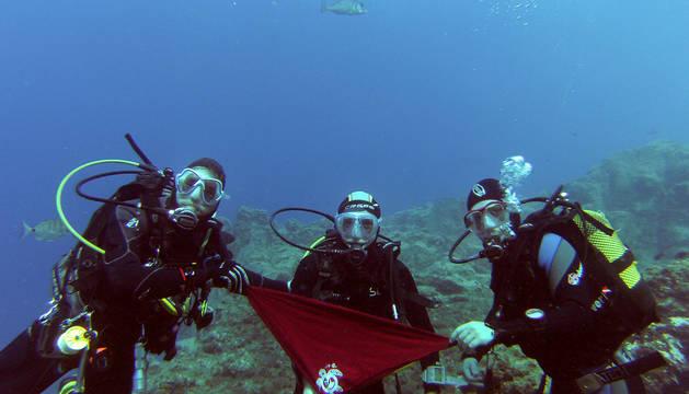 Chupinazo bajo el mar