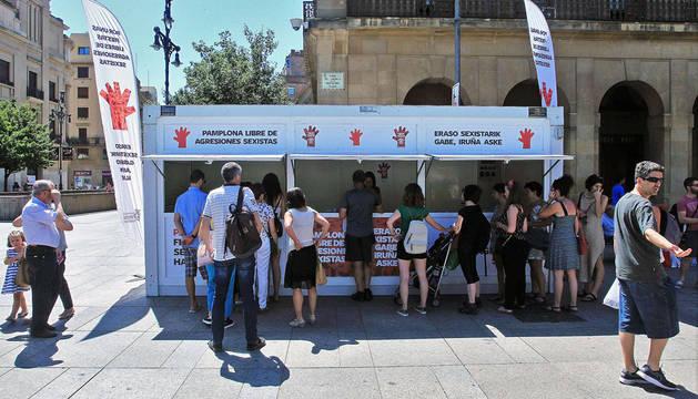 El punto de información sobre agresiones sexistas ampliará su horario en San Fermín 2017