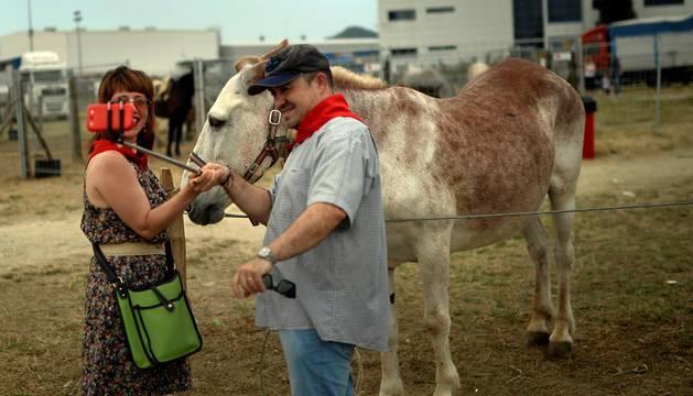 Fotos de la feria de ganado equino que se celebra todos los años el día 7 de julio, San Fermín.