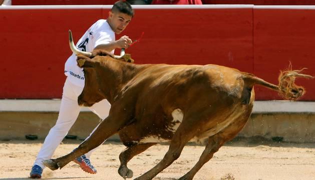 La plaza de toros de Pamplona acogió este domingo 9 de julio el tradicional festejo taurino.