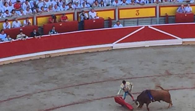Debut de Cayetano Rivera en Pamplona.
