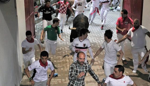 Imágenes exclusivas del séptimo encierro de 2017 de los fotógrafos de Diario de Navarra.