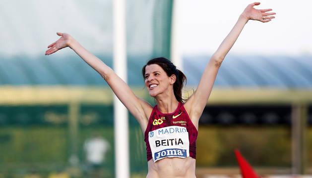Ruth Beitia logra su marca tope de la temporada en Madrid