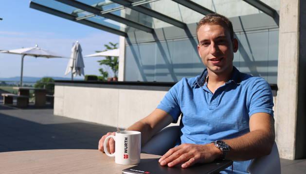 Foto de Ibai Marizkurrena Sagaseta es asistente de dirección en la multinacional Wurth.