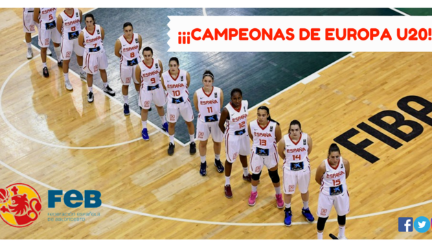 La selección española sub-20 femenina, campeona de Europa
