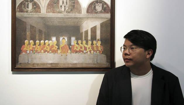 Buda presidiendo la última cena y otros collages polémicos en Tailandia