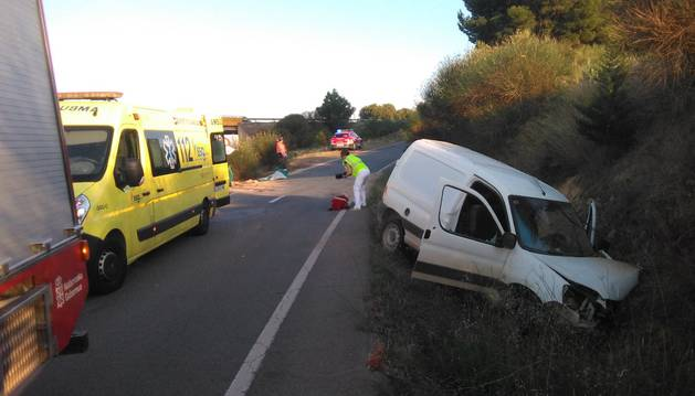 Imagen del estado en el que ha quedado el vehículo implicado en el siniestro.