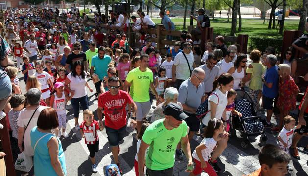 La Carrera del Encierro de Tudela reúne a un millar de personas