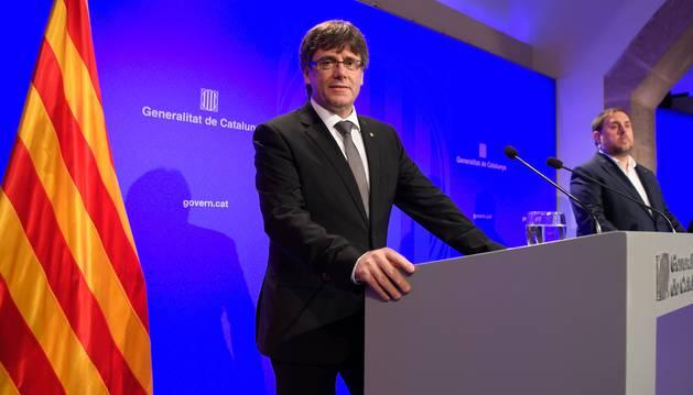Foto de Carles Puigdemont y Oriol Junqueras.