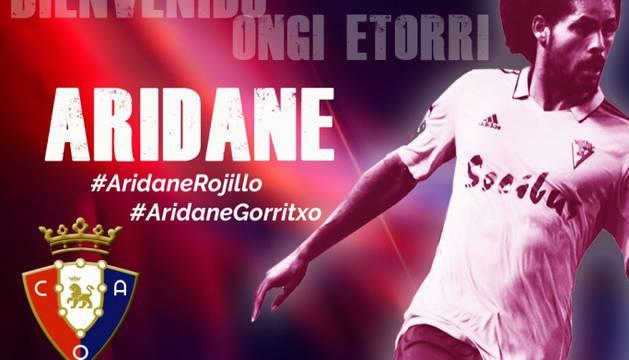 Imagen de bienvenida de Osasuna a Aridane.