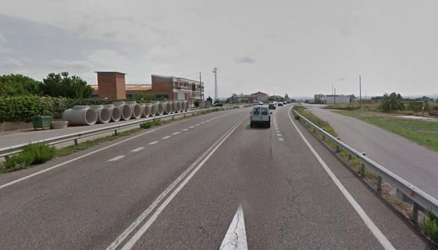 Imagen de la carretera N-240 cerca de Juneda, Lleida.