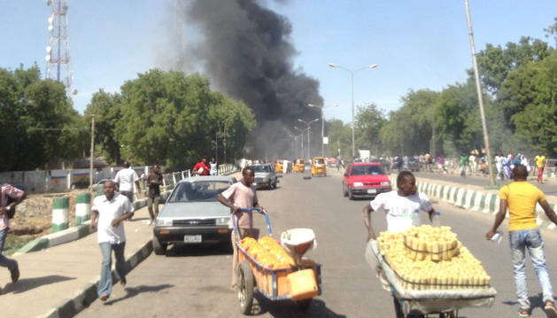 Imagen de un atentado anterior en Nigeria.