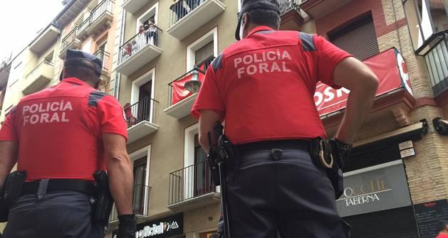 La Policía Foral detiene a tres personas por cometer hurtos en Sanfermines