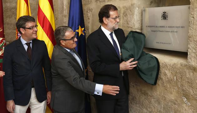 Rajoy rechaza en Cataluña el camino de la ruptura y apela al sentido común