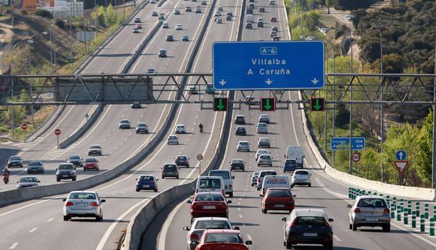 Imagen de una de las salidas de Madrid, en plena Operación Salidas del verano.