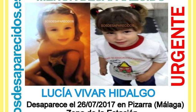 Hallada muerta a la niña de tres años desaparecida en el municipio malagueño de Pizarra