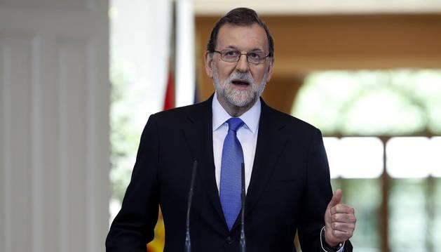 Imagen del presidente del Gobierno, Mariano Rajoy.