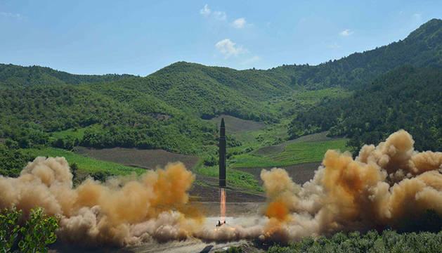 Un misil balístico coreano
