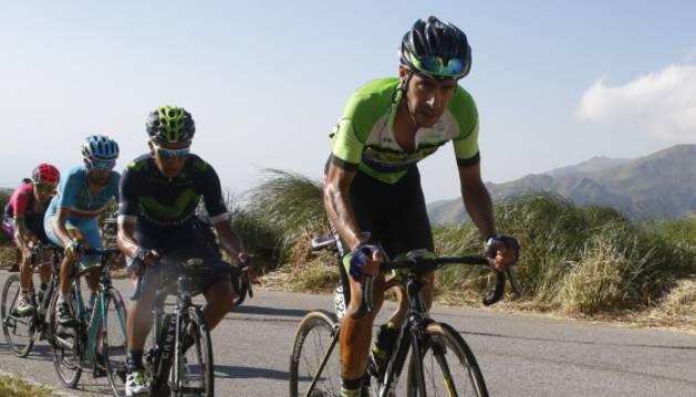 Sepúlveda junto a Nairo Quintana