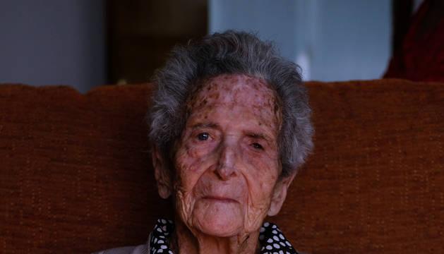 Ángeles Álava Jiménez, ayer en su casa.