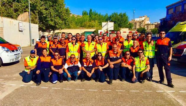 El grupo de voluntarios de Protección Civil de Tudela