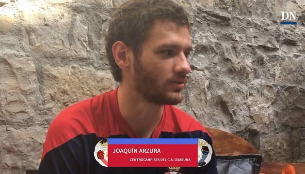 Joaquín Arzura, centrocampista de Osasuna.