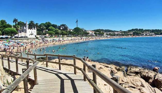 Imagen de la playa de Sant Pol de Sant Feliu de Guíxols, donde ha muerto la última víctima.