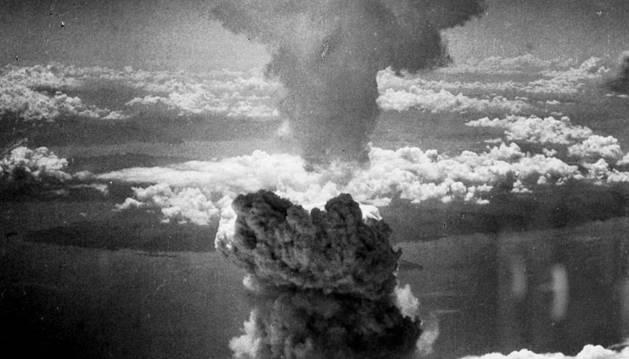 Imagen de la ciudad de Nagasaki, bombardeada.