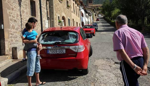 La granizada del lunes en Navarra, en imágenes