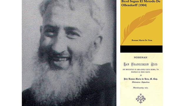 El padre Román María de Vera y las portadas de dos de sus obras.