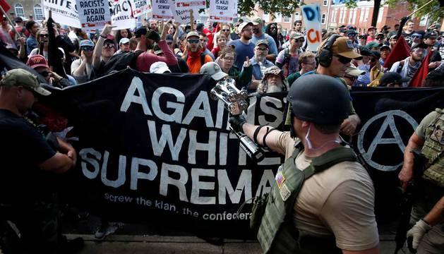 Disturbios en Charlottesville (EE.UU.) tras una manifestación a favor del supremacismo blanco